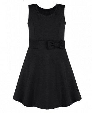 Черный школьный сарафан для девочек 82351-ДШ20
