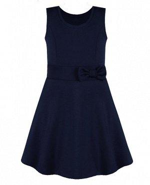 Синий школьный сарафан для девочки 82352-ДШ20
