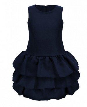 Школьный синий сарафан для девочки 71652-ДШ19