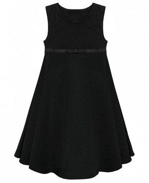 Школьный черный сарафан для девочки 78941-ДШ18