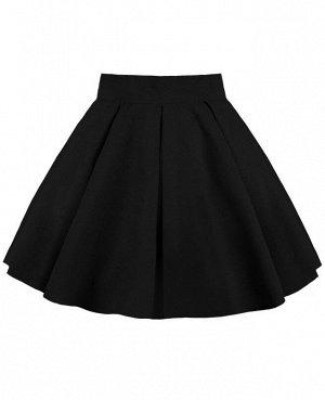 Черная школьная юбка для девочки 83841-ДНШ19
