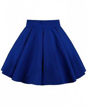 Синяя юбка для девочки в складку 83846-ДНШ19