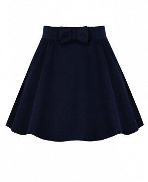 Синяя школьная юбка для девочки 79062-ДШ19