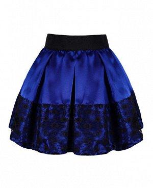 Синяя юбка для девочки 83132-ДН18