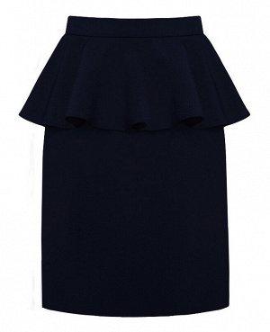 Школьная синяя юбка для девочки 78992-ДШ17