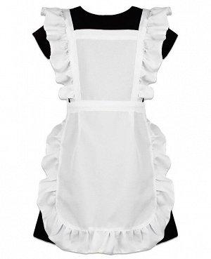 Белый школьный фартук для девочки 8346-ДШ19