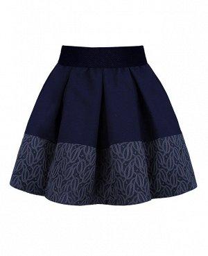 Синяя школьная юбка для девочки 83373-ДШ19