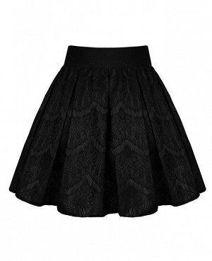 Чёрная юбка для девочки 83301-ДНШ19