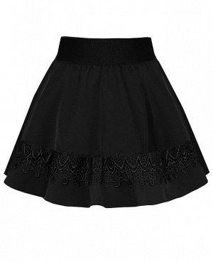 Чёрная школьная юбка для девочки 82391-ДШ19