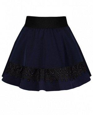 Синяя школьная юбка для девочки 82392-ДШ19