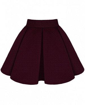 Бордовая юбка для девочки 783310-ДШ18