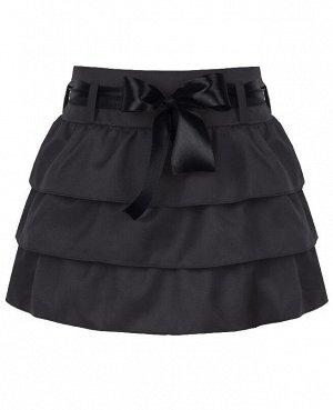 Серая школьная юбка для девочек 80273-ДШ18