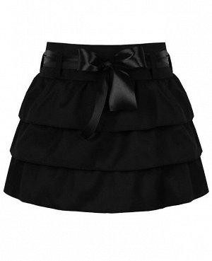 Черная школьная юбка для девочки 80271-ДШ19