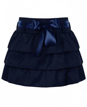 Синяя школьная юбка для девочки 80272-ДШ19