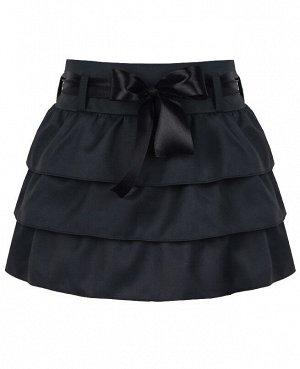 Юбка для девочки из костюмной ткани,серый 80274-ДШ19