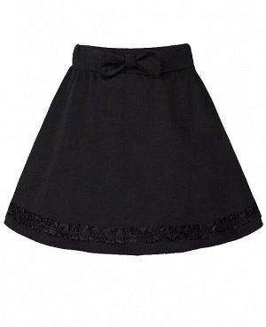 Чёрная школьная юбка для девочки 60021-ДШ18