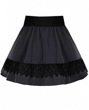 Серая школьная юбка для девочки 82393-ДШ19