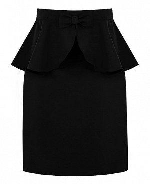 Чёрная школьная юбка для девочки 82381-ДШ18
