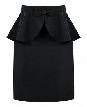 Серая школьная юбка для девочки 82383-ДШ18