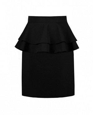 Школьная черная юбка для девочки 82181-ДШ18