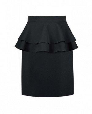 Школьная серая юбка для девочки 82183-ДШ18