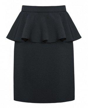 Школьная серая юбка для девочки 78993-ДШ17
