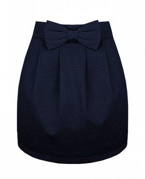 Синяя школьная юбка для девочки 78052-ДШ19