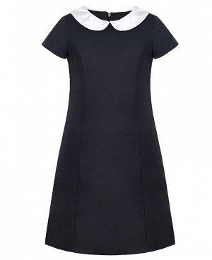 Серое школьное платье для девочки 82303-ДШ19