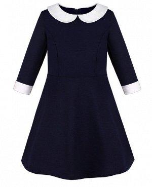 Синее школьное платье для девочки 84302-ДШ20