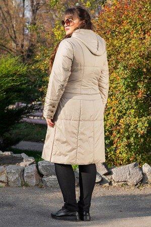 Пальто демисезонное Аврора бежевое