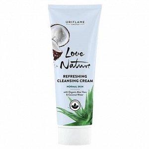 125  мл.* Очищающий крем для умывания с органическим алоэ вера и кокосовой водой Love Nature