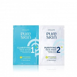 12  мл.* Скраб и очищающая маска для лица Pure Skin