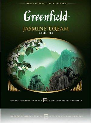 Чай Гринфилд Jasmine Dream green tea 100пак
