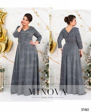 Платье №19-42-серебро