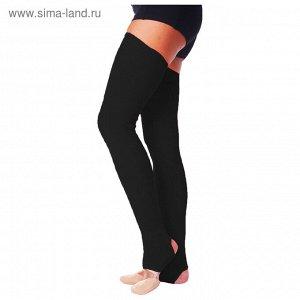 Гетры для танцев №5, без носка и пятки, L= 80 см, цвет чёрный