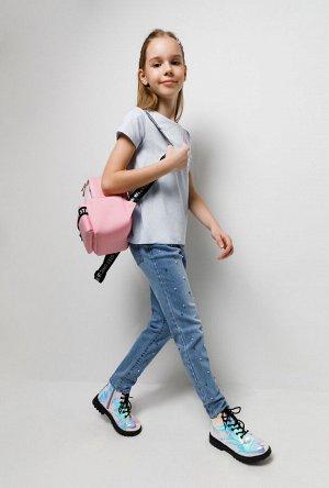 Брюки джинсовые детские для девочек Wooga голубой
