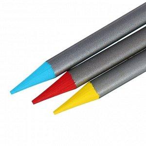 Карандаши акварельные набор 36 цветов, цельнографитовые Koh-I-Noor Progresso Aquarell, в металлическом пенале