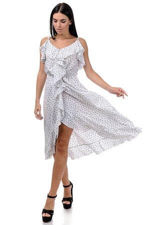 Платье «Рианна», р-ры S-L, арт.365 сердечки белый
