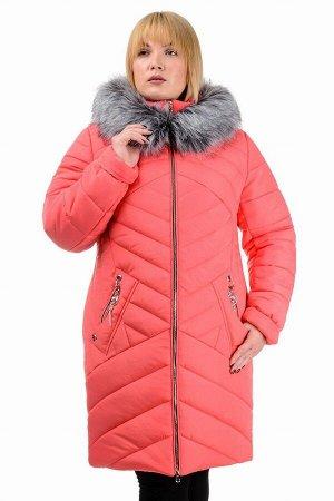 Зимняя куртка «Глория», р-ры 50-56, №223 коралл