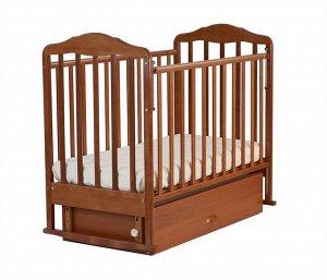 Кровать детская Березка (автостенка, закр. ящик, маятник , накладка ПВХ, орех) 126007  (2 коробки)