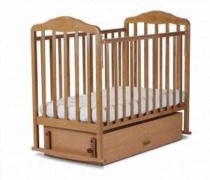 Кровать детская Березка (автостенка,попер.и прод.маятник,закр.ящик,качалка,накл.ПВХ,бук) 126006