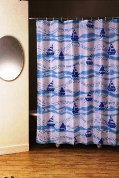 Sailing Boat Штора для ванной 180х200 PLE (голубой)