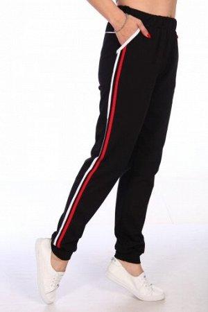 Брюки Юлия (Черный с красным)