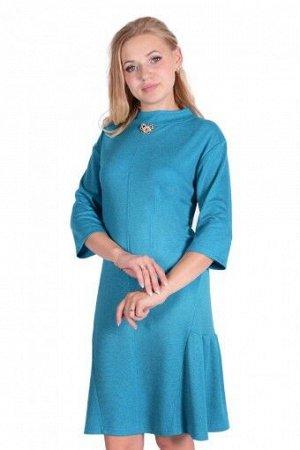"""Платье П 723 """"Ж"""" (Меланж голубой)"""