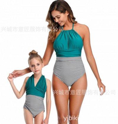 Пижамный комплект всего за 698 руб 🌿 Купи с выгодой — Милые Яркие купальники Для Мамы и Дочки — Купальники