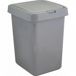 "Ведро для мусора ""Квадра"" с крышкой Push to Open 25л, 3цв. SV4143"
