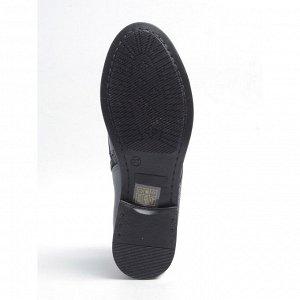 Ботинки демисезонные, синяя кожа