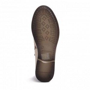 Ботинки демисезонные, бежевая кожа