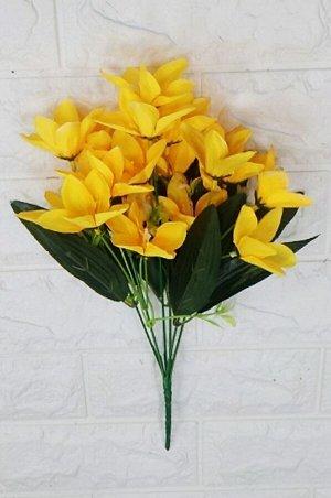 Цветы Высота 35см. 6 веточек. (18цветков.⊙5см.) Материал:текстиль. Без выбора цвета