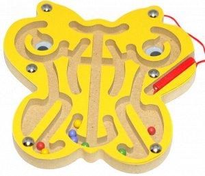 Лабиринт магнитный Бабочка желтая